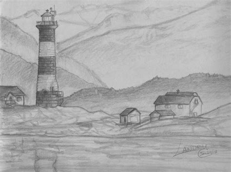 landscapes to draw easy pencil drawings of scenery search drawings