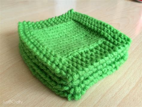 knitted coaster pattern free st s day knit cocktail coasters just be crafty