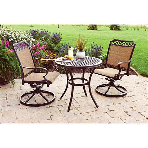 bistro set patio furniture better homes and gardens paxton place 3 outdoor