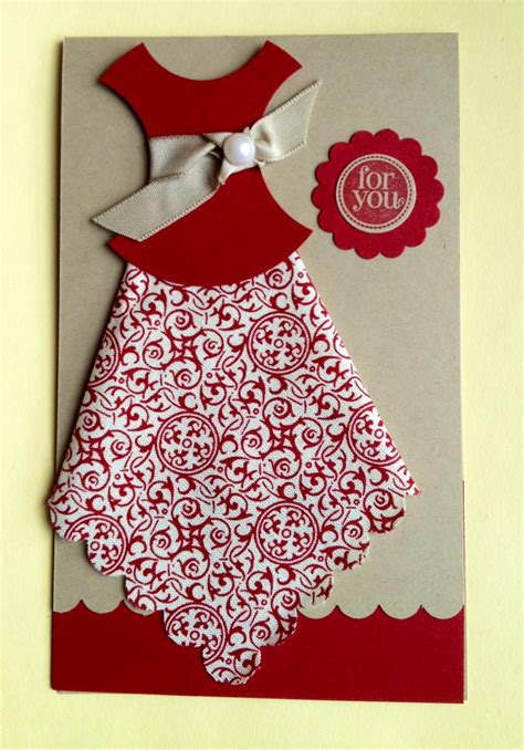 how to make a card dress the flying ster fabric card