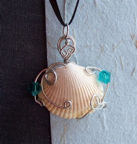 how to make jewelry from shells sea shells crafts ideas pendant with sea shell from