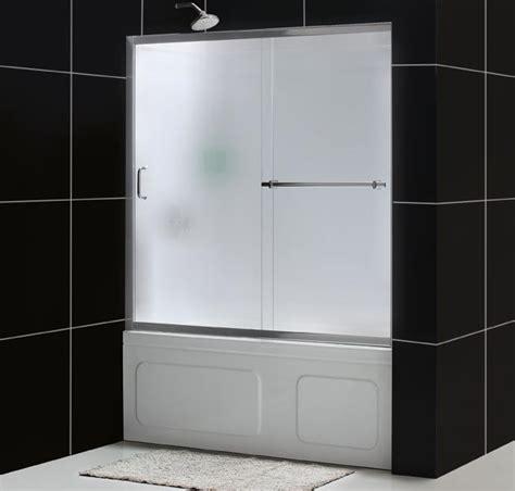 sliding glass shower doors tub dreamline showers infinity plus sliding tub door glass