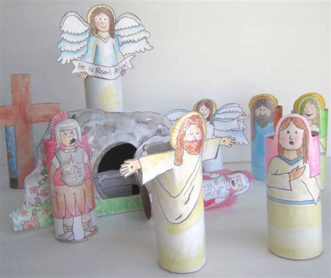 easter bible crafts for simply four us easter week toilet paper