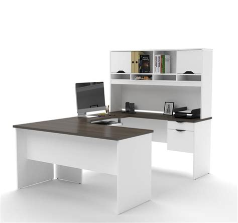 white u shaped desk modern white antigua u shaped office desk with hutch