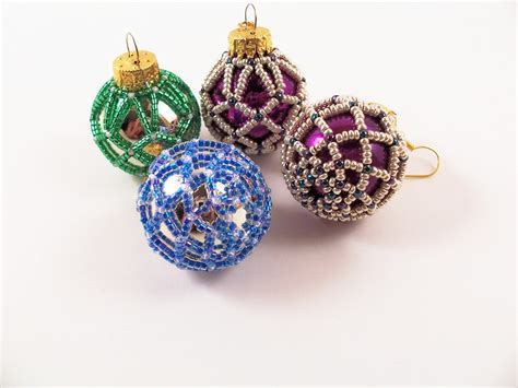 ornaments bead beaded ornament pattern 3 net beading tutorial