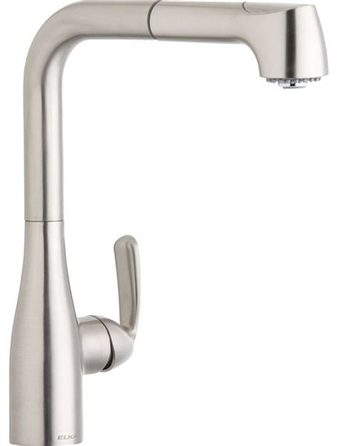kitchen faucet gpm 1 5 gpm l spout kitchen faucet brushed nickel contemporary kitchen faucets by poshhaus