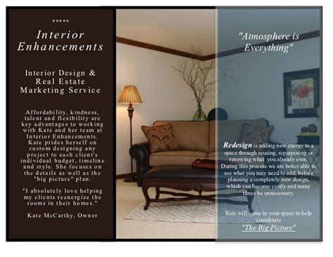 Modern Interior Designer interior enhancements inc design brochure