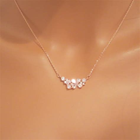 simple jewelry simple gold necklace bridal necklace bridesmaid