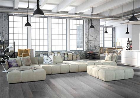 loft style living room modern grey loft style living room with porcelain wood