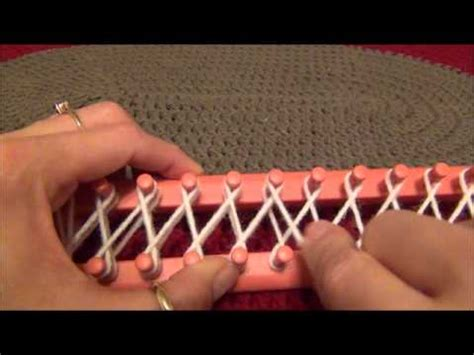 how to cast on a knitting loom how to eight wrap the knifty knitter looms