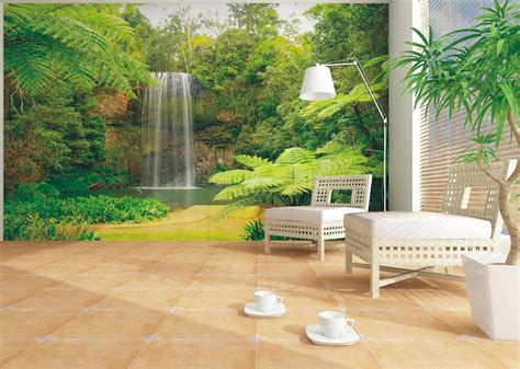 wall mural from photo wall mural wallpaper nature jungle downfall plant photo