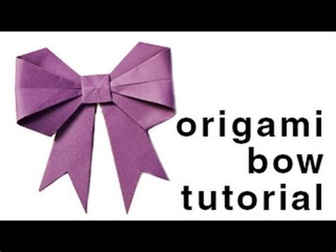 how to make a origami bow inicio origami