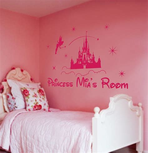 princess castle wall stickers personalized princess castle wall for