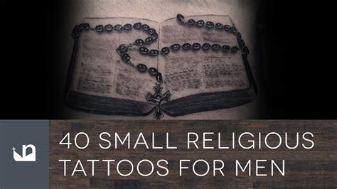 40 small religious tattoos for men youtube