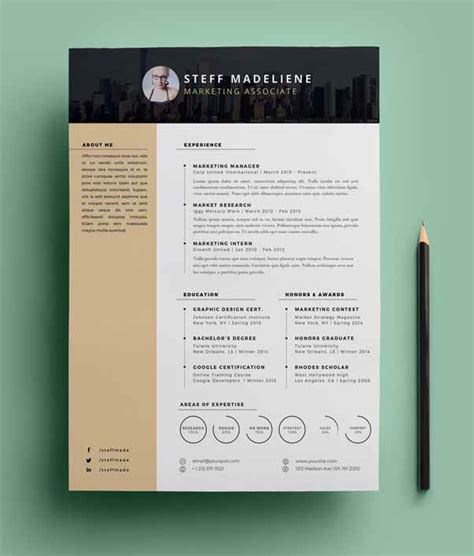 20 free cv resume templates amp psd mockups freebies