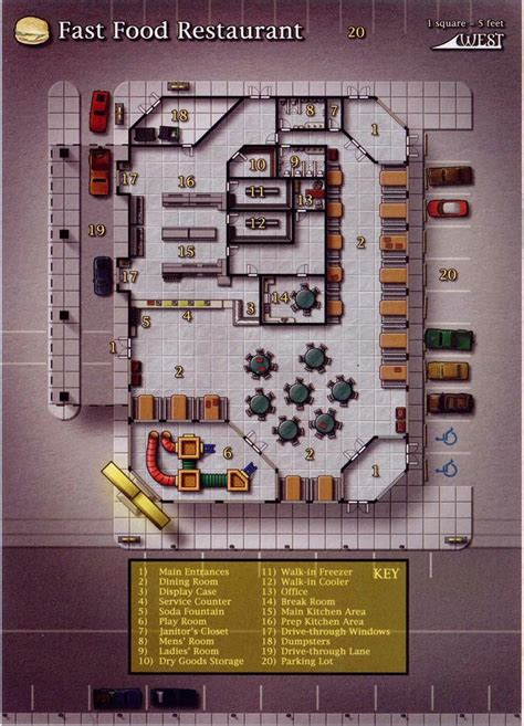 fast food restaurant floor plan 99 best shadowrun floorplans maps images on