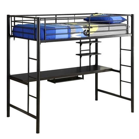 workstation bunk bed walker edison sunset metal workstation loft bunk bed