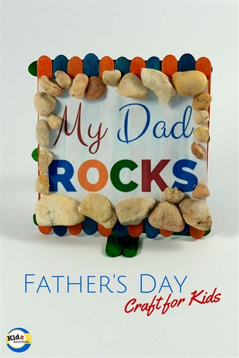 crafts for for fathers day rocks s day craft kidz activities