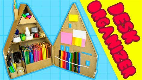 house craft ideas for diy desk organiser 2 inside the cardboard house craft