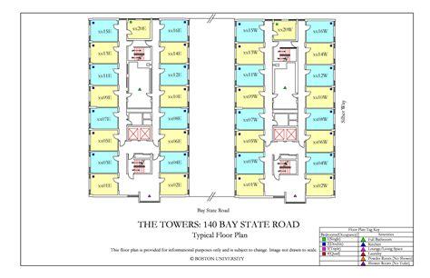 Boston College Floor Plans the towers floor plan 187 housing boston university