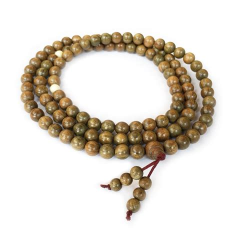 mala sandalwood green sandalwood mala 108 flower of essential