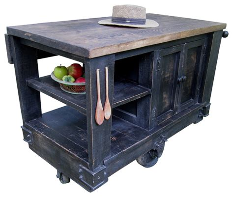 modern kitchen island cart modern rustic kitchen island cart with walnut stained top