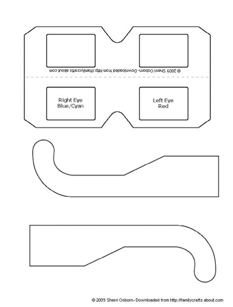 craft templates for how to make your own 3d glasses paper craft templates