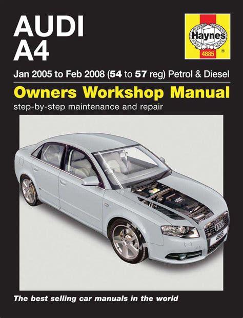 car repair manual download 2004 audi a4 auto manual haynes owners workshop car manual audi a4 petrol diesel 2005 2008 4885 ebay