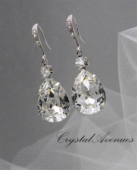 crystals for jewelry bridal earrings wedding jewelry by crystalavenues