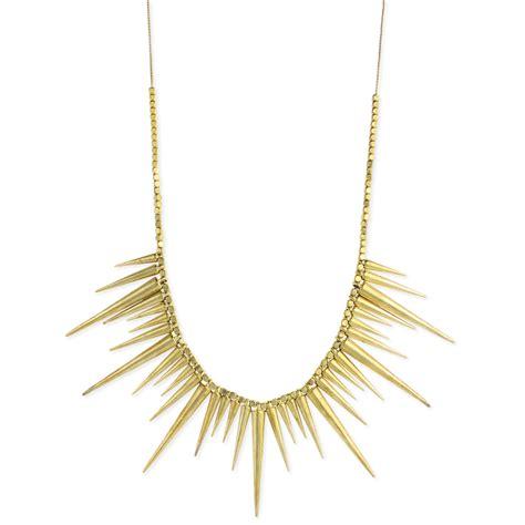 spike for jewelry zad retail fashion jewelry necklaces gold metal