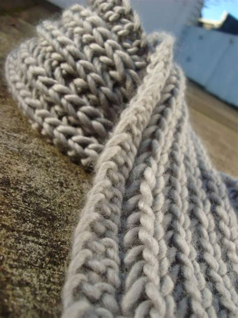 Chunky Knit Scarf Pattern A Knitting