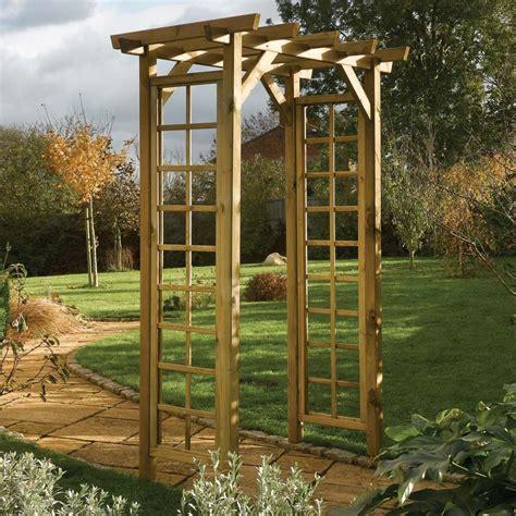 Garden Arch Materials Wooden Square Top Garden Arch Westmount Living