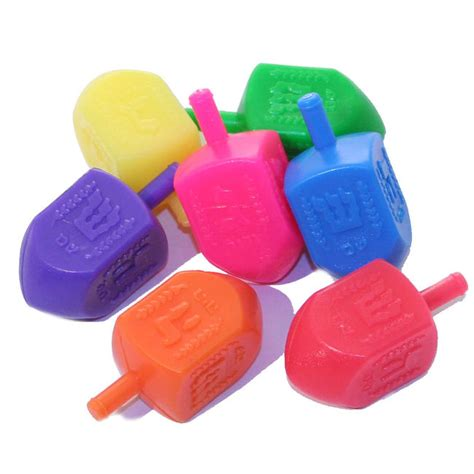 plastic bulk bulk colorful plastic dreidels for hanukkah oh nuts 174