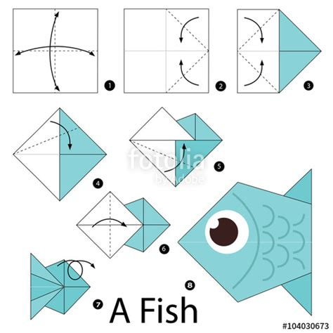 how to make origami fish step by step quot step by step how to make origami a fish
