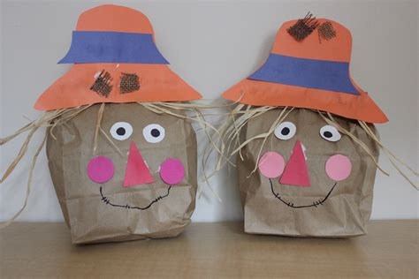 Play And Learn With Paper Bag Scarecrow