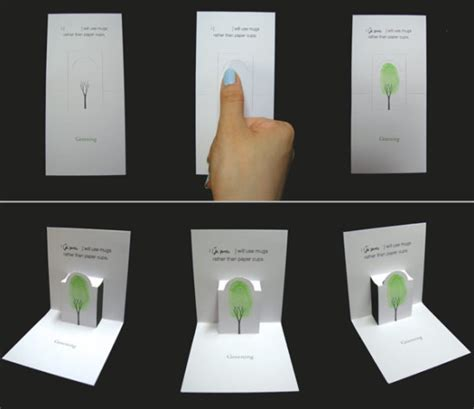 how do you make a pop out card design boom s 2008 green earth design winner quot greening quot