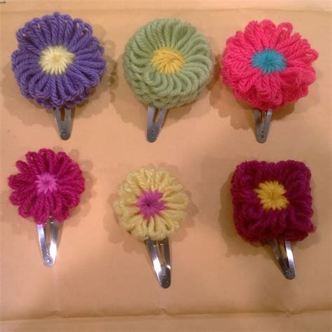 how to knit a flower on a loom hana ami flower barrettes 183 how to make a flower hair clip