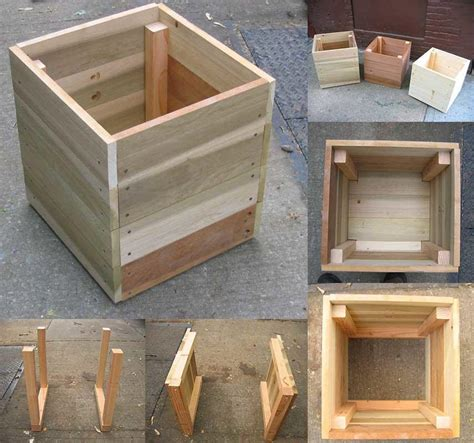 wood planter boxes woodworking plans 14 square planter box plans best for diy 100 free