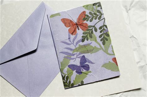 make greeting card sending a greeting card made with tissue paper