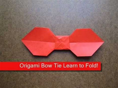 bowtie origami how to make a simple origami bow tie