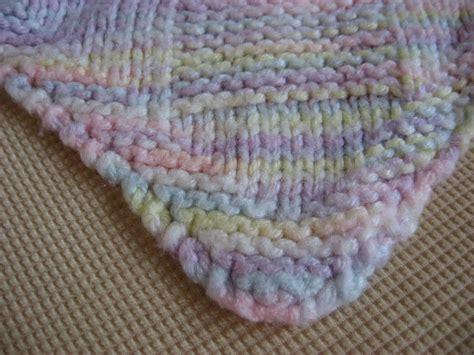knitted baby blanket hooked on needles diagonal knit basketweave baby blanket