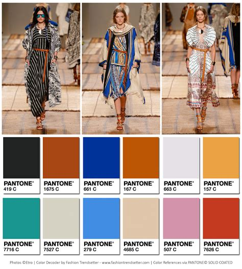 colors for 2017 fashion etro summer 2017 collection color codes fashion