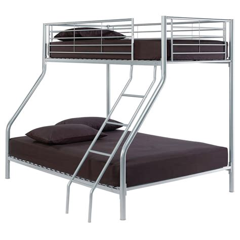 silver bunk bed silver metal sleeper bunk bed frame single