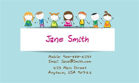 how to make babysitting cards child care business cards babysitting templates