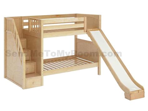 boy bunk bed with slide stellar medium bunk bed with slide and staircase boys
