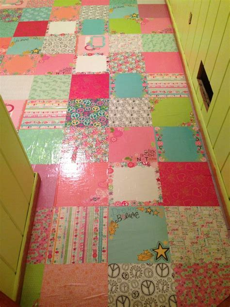decoupage floor scrapbooking paper floor decoupaged and varathaned for