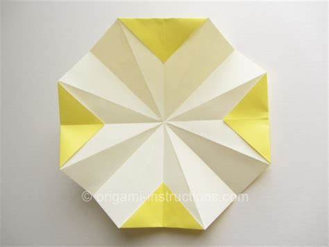 petal fold origami origami 8 petal flower folding