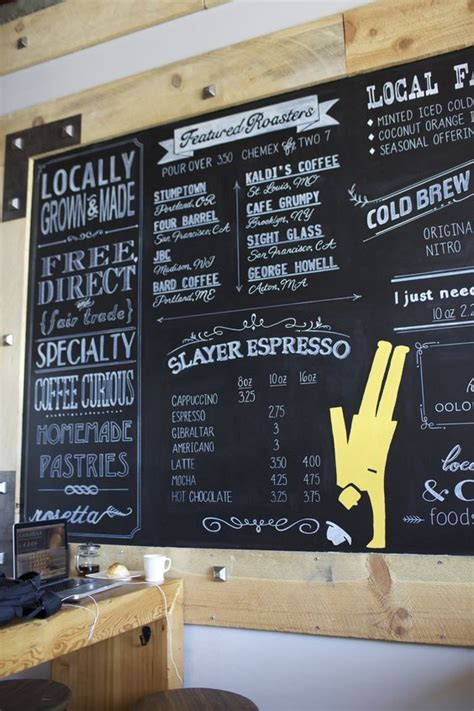 chalkboard paint ideas restaurants site mural or chalk painting coffee shops