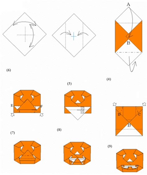 origami pumpkins related keywords suggestions for o lantern origami