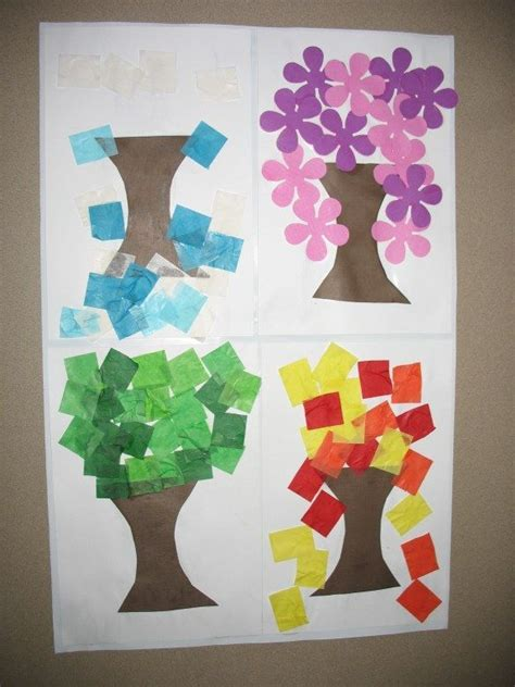seasons crafts for 25 best ideas about seasons kindergarten on